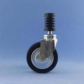 Roda de 80 mm con insiro rápido, sen freo.