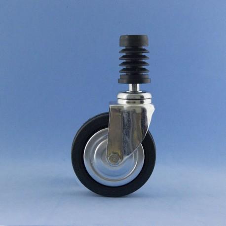 Roda de 80 mm com insiro rápido, sem travão.