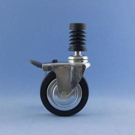Roda de 80 mm con insiro rápido e freo.