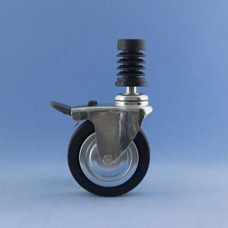 Roda de 80 mm com insiro rápido e travão.