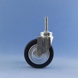 Roda de 80 mm con insiro a rosca, sen freo.