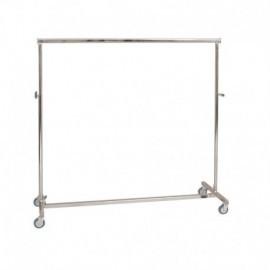 Penjador plegable d'altura regulable i 150 cm de llarg.