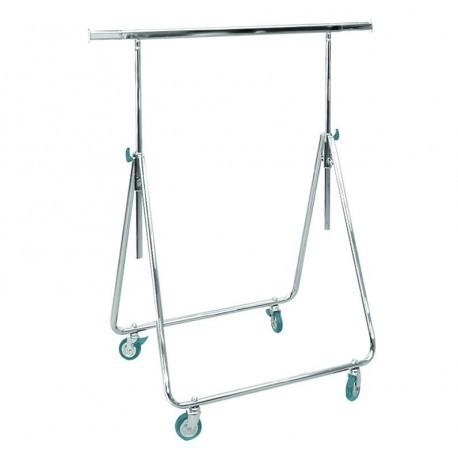 Cabide para representantes de dobramento ajustável em altura.