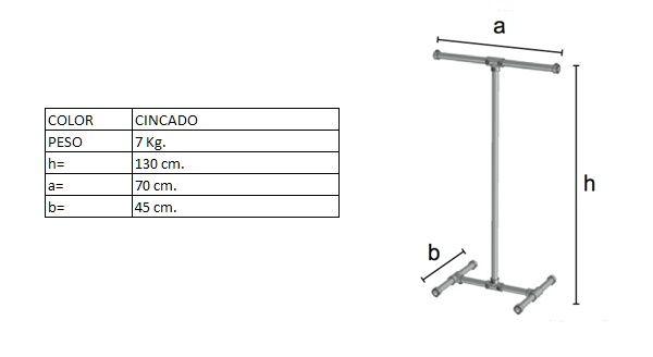 Mesures del penjador DP0003TF