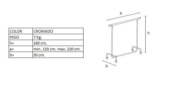 Medidas del perchero DP01050F