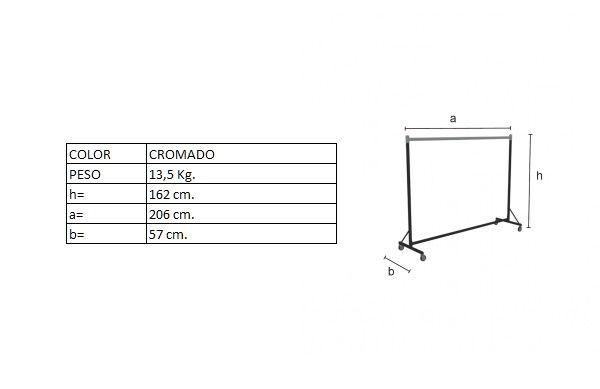 Medidas del perchero DP01880F