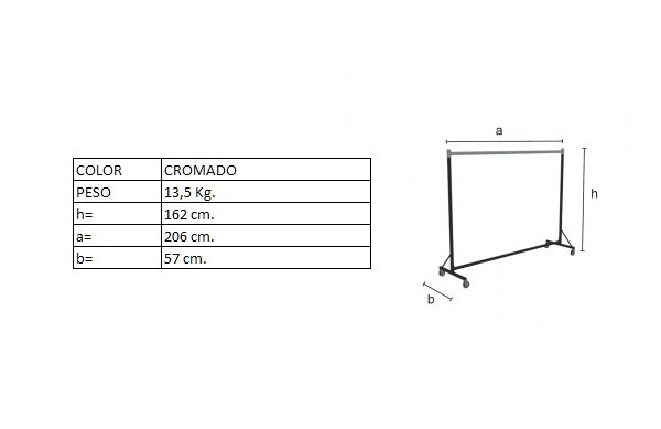 Medidas colgador DP01880F