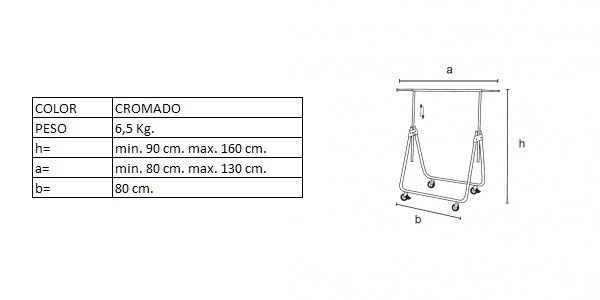 Medidas del perchero DP02180R