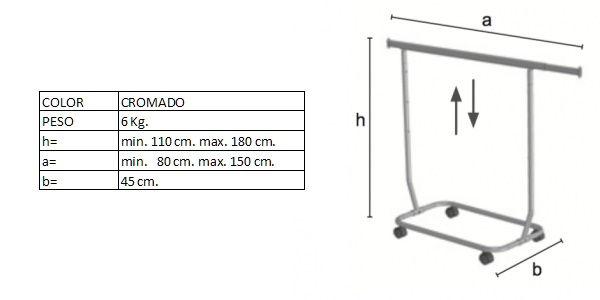 Medidas del perchero DP02650R