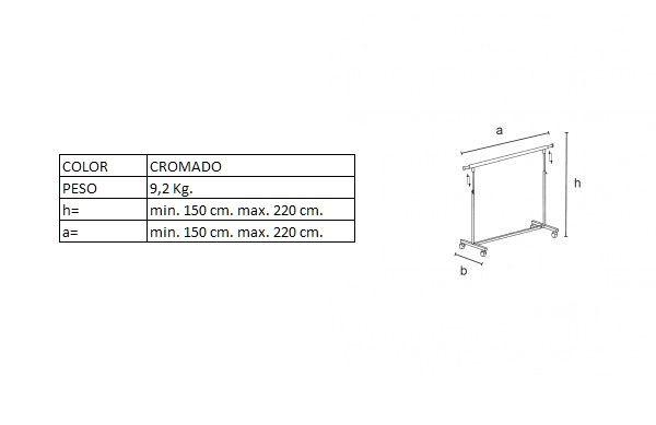 Medidas del perchero DP06380R